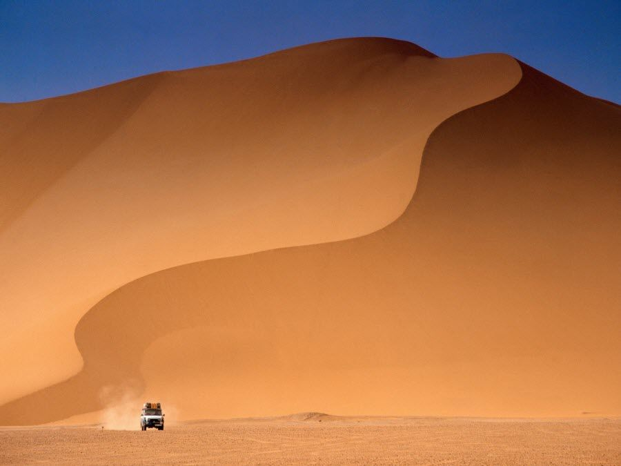 Фото завораживающая пустыня Сахара в Алжире