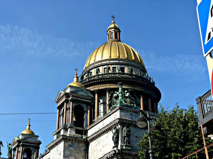 Главный купол Исаакиевского собора фото Санкт-Петербурга