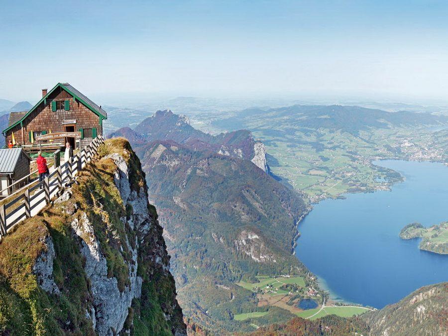 Зальцкаммергут в Австрии фото с высоты