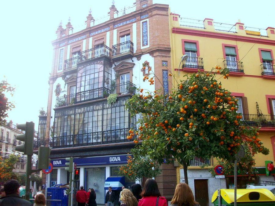 Фото улицы в Севилье
