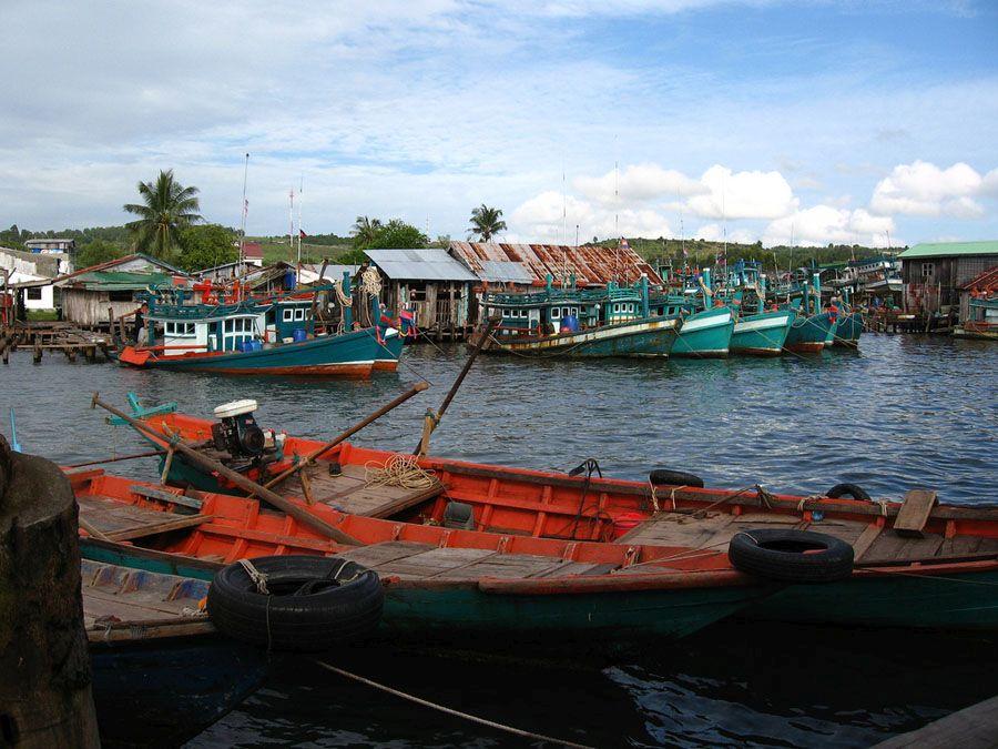 Деревня рыбаков Сиануквиля фото