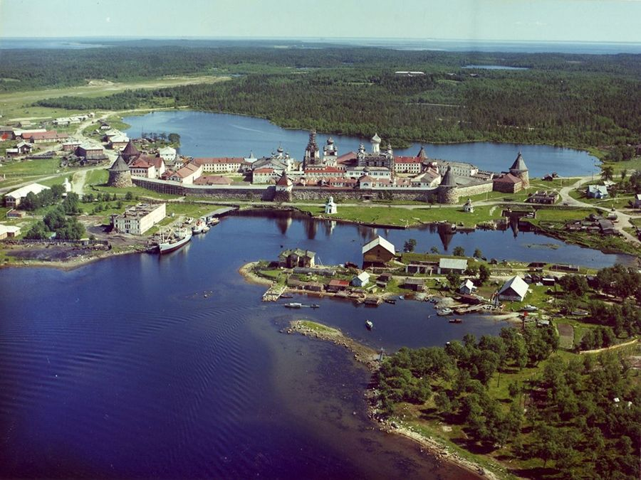 Соловецкие острова вид сверху фото