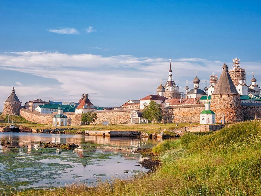 Фотография Соловецского мужского монастыря в Карелии