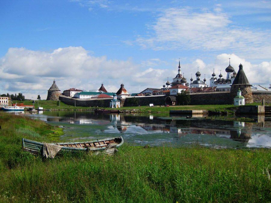 Панорама Соловецкого монастыря фото