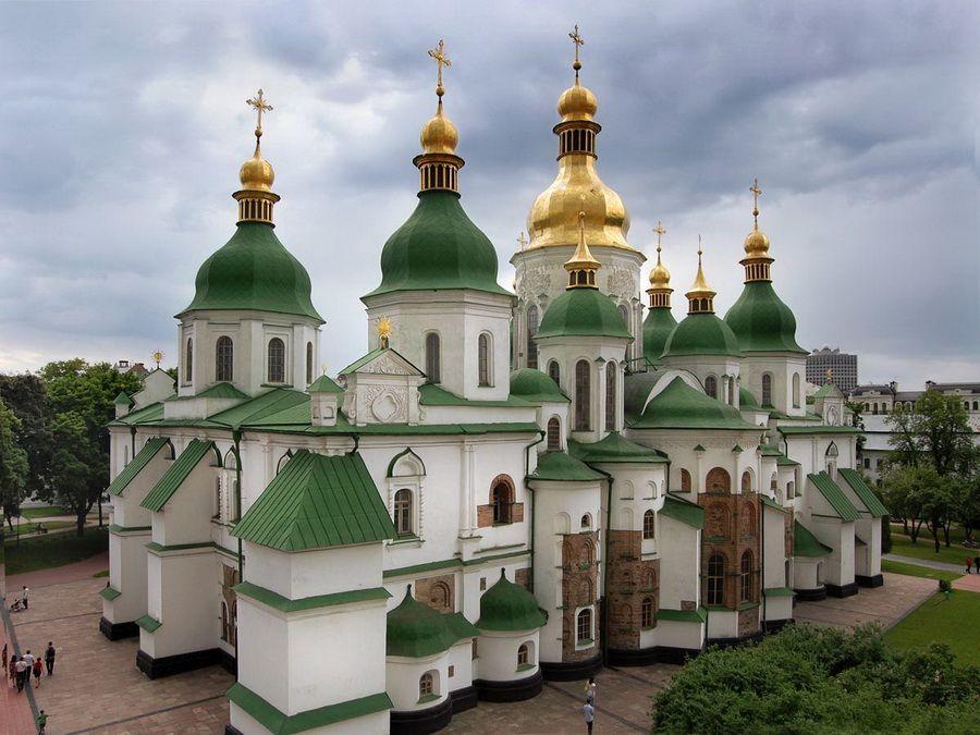Фотография панорамы Софийского собора в Киеве