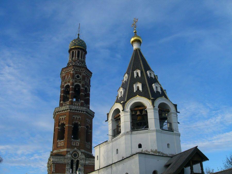 Фото вид на купола Свято-Иоанно-Богословского монастыря