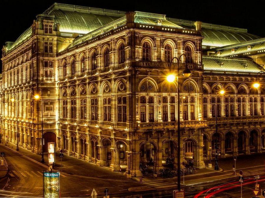 Венская опера фото ночной панорамы