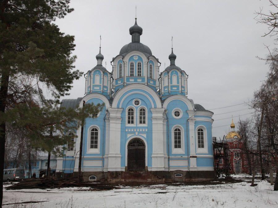 Сухотинский Знаменский Женский монастырь вид зимой фото