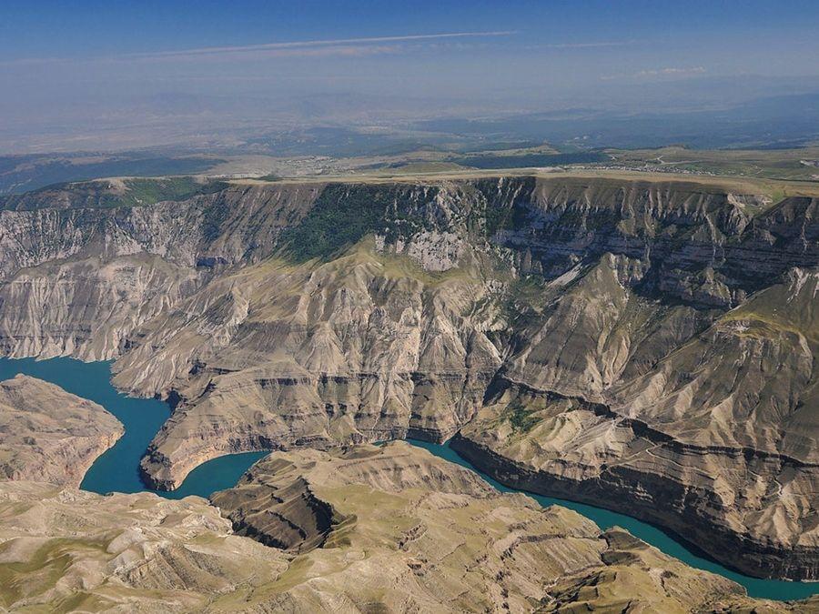 Фотография Сулакского каньона вид сверху