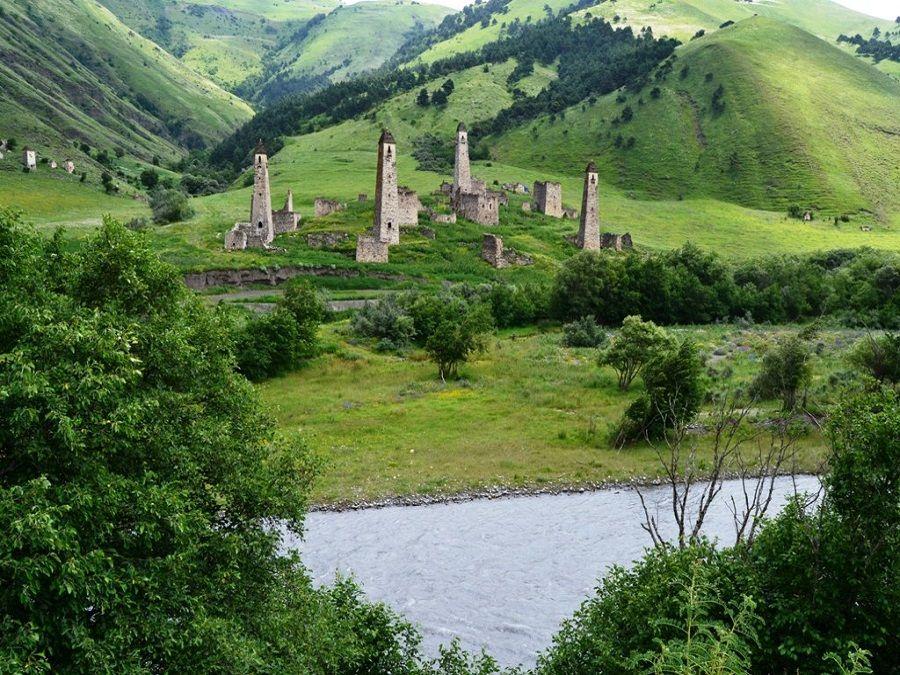 Фотография реки Ассы у селения Таргим