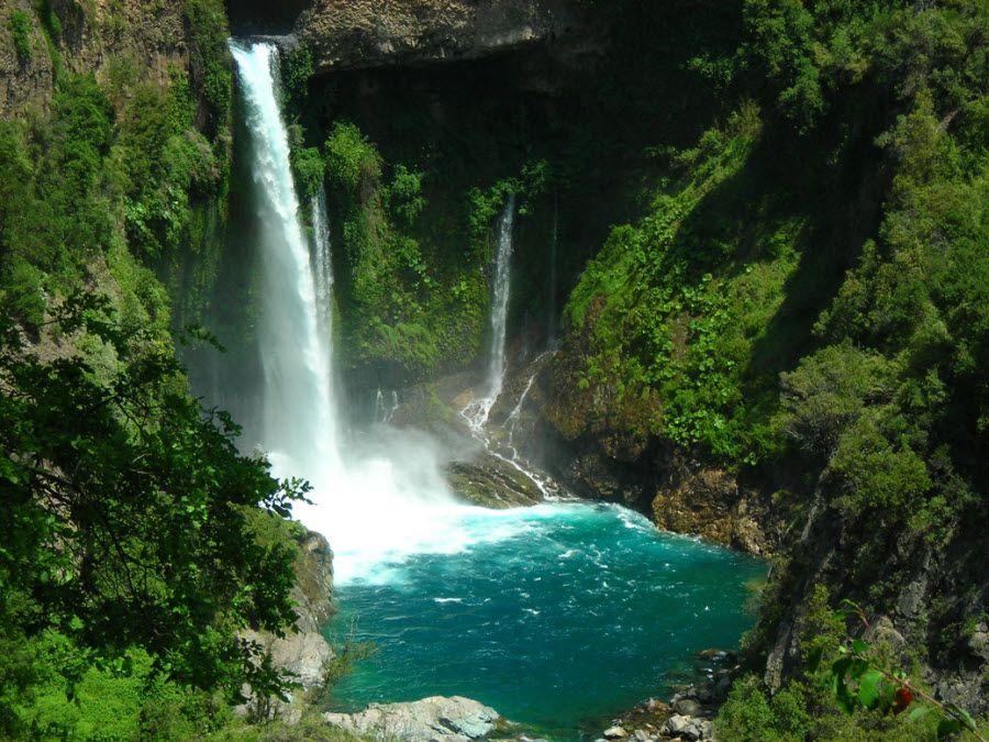 Фото водопада в Центральной долине Чили