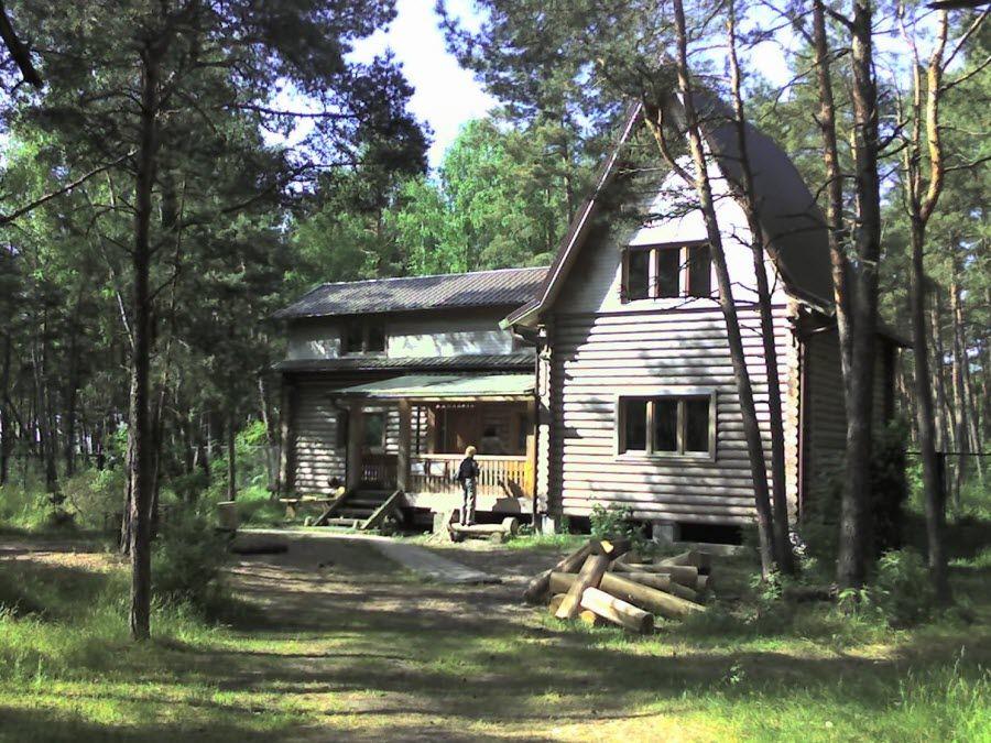 Фото деревянного дома в Танцующем лесу