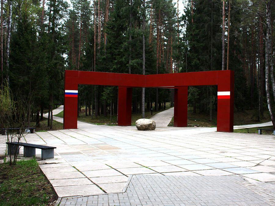 Памятник мемориального комплекса Катынь фото
