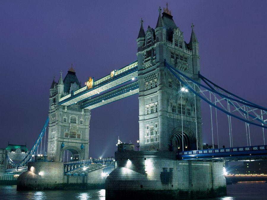 Фото панорамы Тауэрского моста в Лондоне