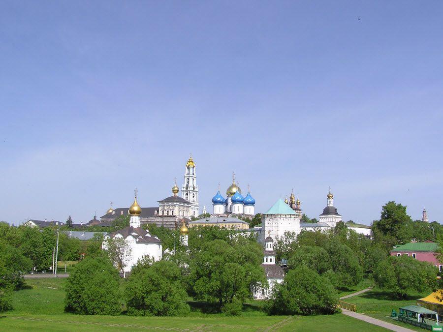 Панорама Троице-Сергиевской лавры фото