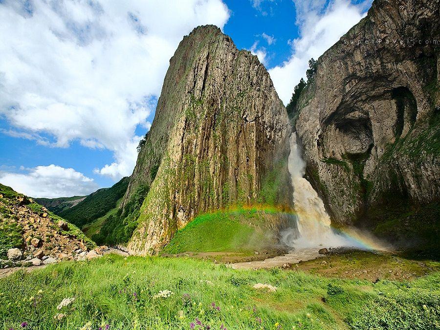 Фотография водопада султан в урочище Джил-Су
