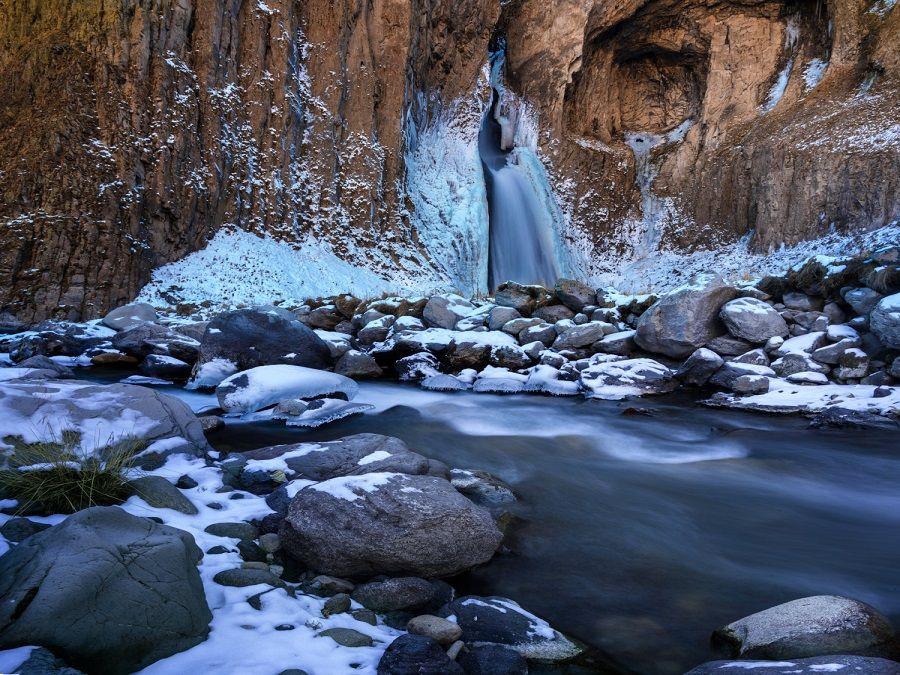 Фотография урочища Джил-Су зимой