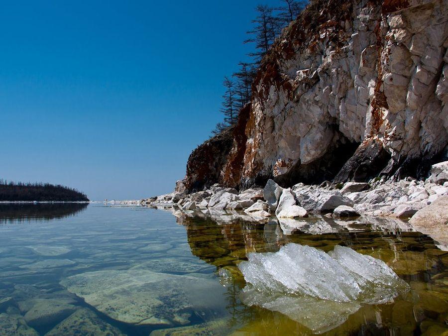 Фотография берега Ушканьего острова