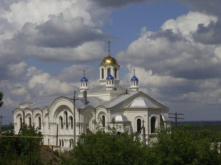 Усть-Медведицкий Спасо-Преображенский монастырь панорама фото