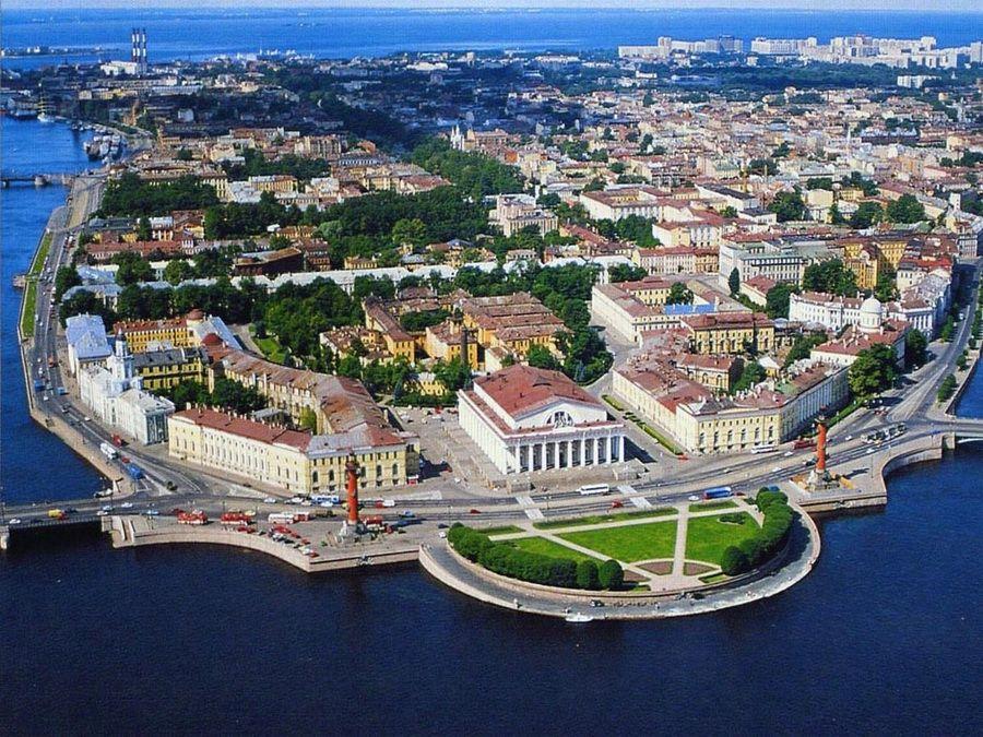 Стрелка Васильевского острова фото Санкт-Петербурга