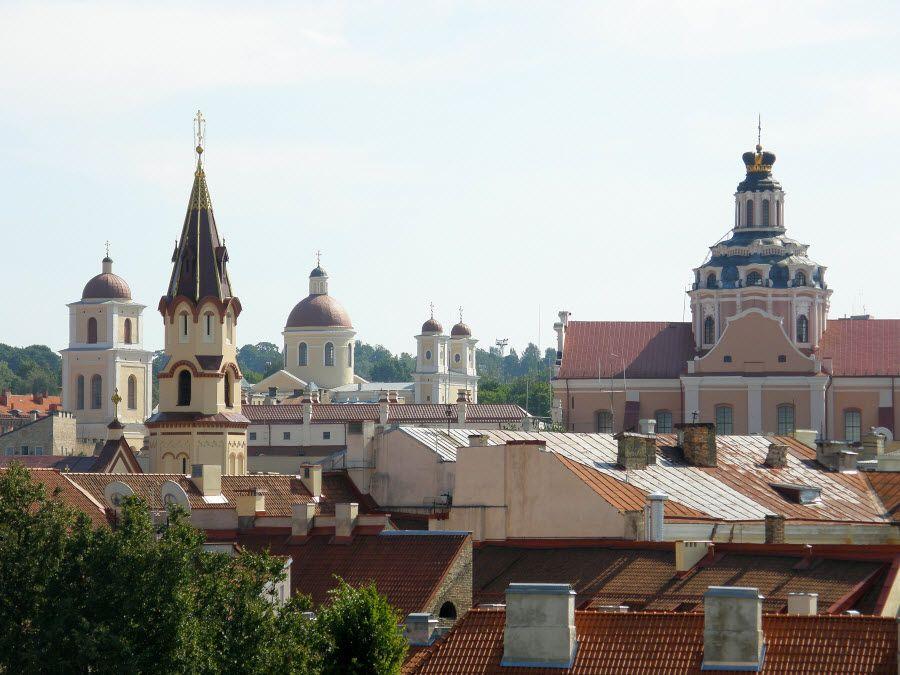 Фото Старого города в Вильнюсе Латвии