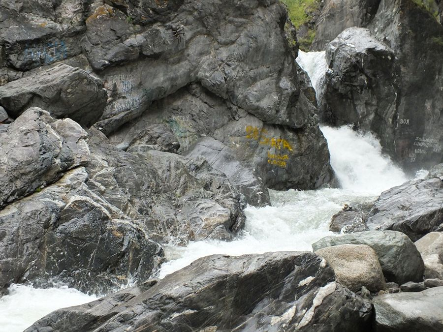 Водопады на реке Кынгарга в Бурятии фотография