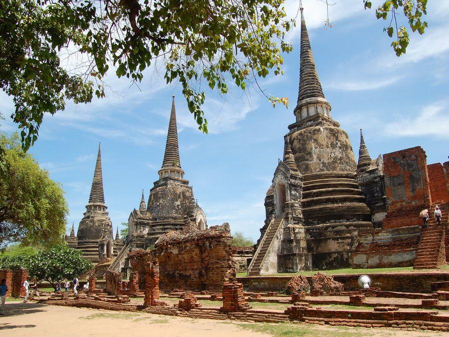 Храм Ват Пра Си Санпхет в Аюттхае Таиланд