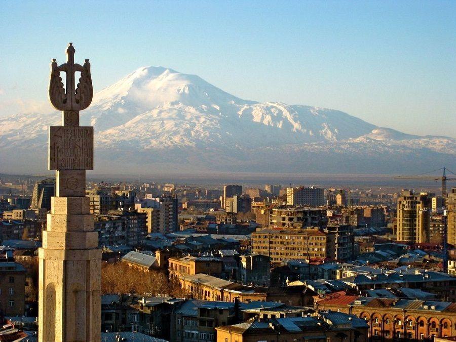 Фотография панорамы Еревана