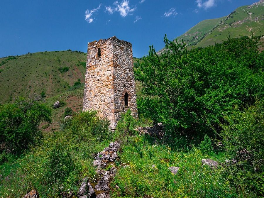 Фотография замка Дударова в Ингушетии