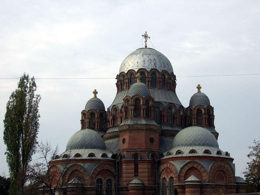 Фотография Знаменского собора в городе Хасавюрт в Дагестане