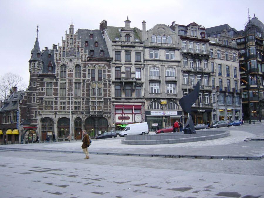 Фото архитектуры Брюсселя. Бельгия