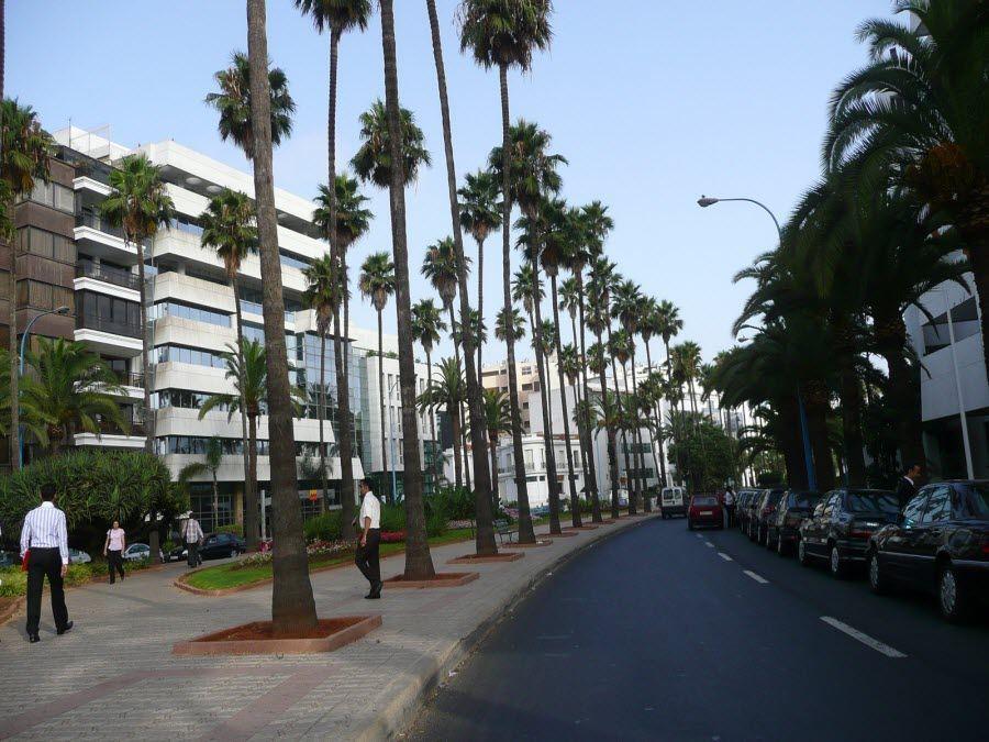 Фото центр города Касабланка в Марокко