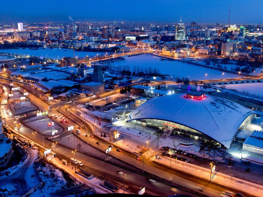 Фото красивого города Челябинска ночью