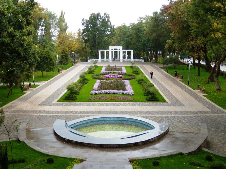 Городской сад в Краснодаре фото