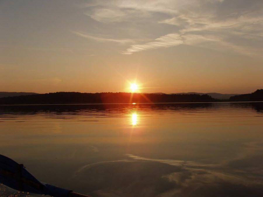 Фото закат в Ильменском заповеднике