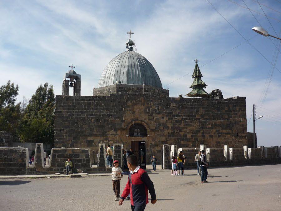 Замок города Эзра в Хауроне фото