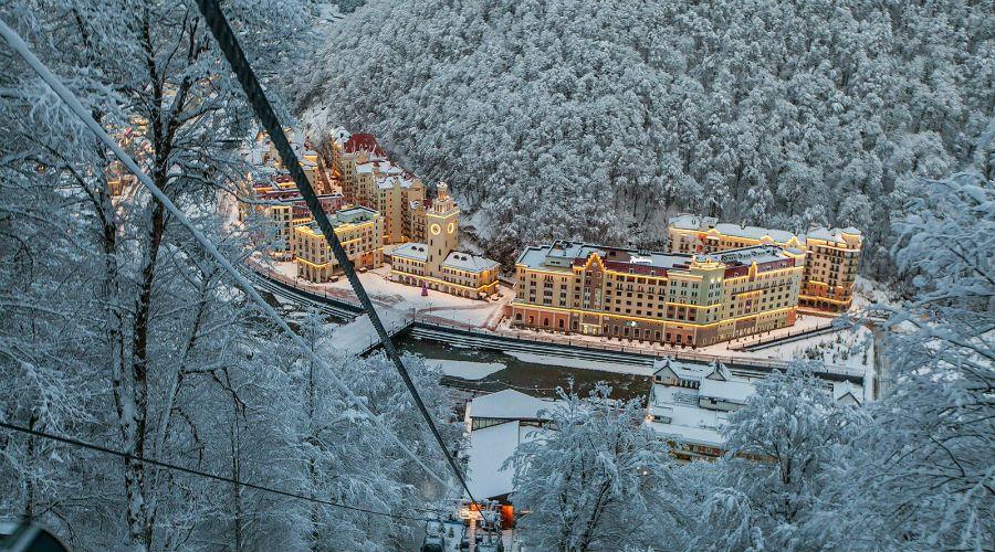 Курорт Роза Хутор в Красной Поляне фото