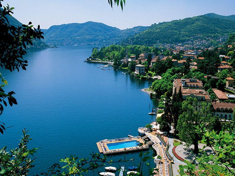 Озеро Комо в Ломбардии фотографии Италии