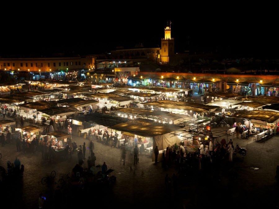 Фото площадь Джема-эль-Фна в Марракеше