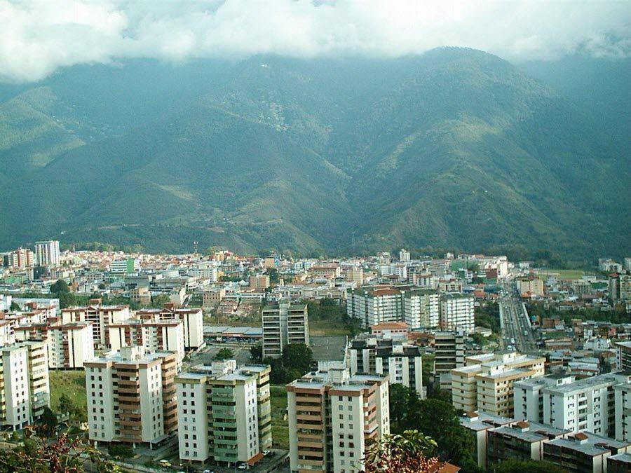 Фото панорама на город Мерида в Венесуэле