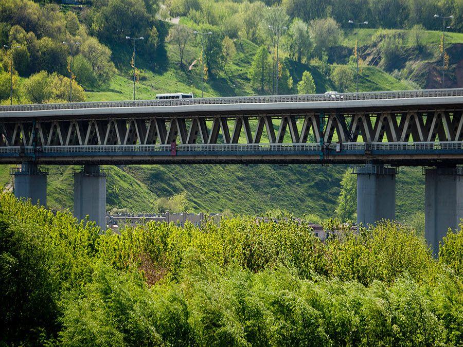 Фото моста метро в Нижнем Новгороде