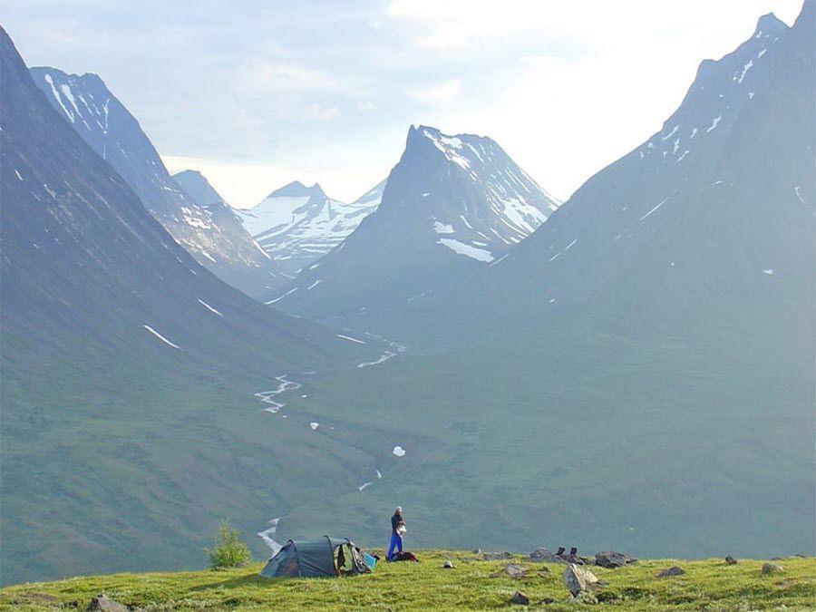 Горные склоны Лапландии фото