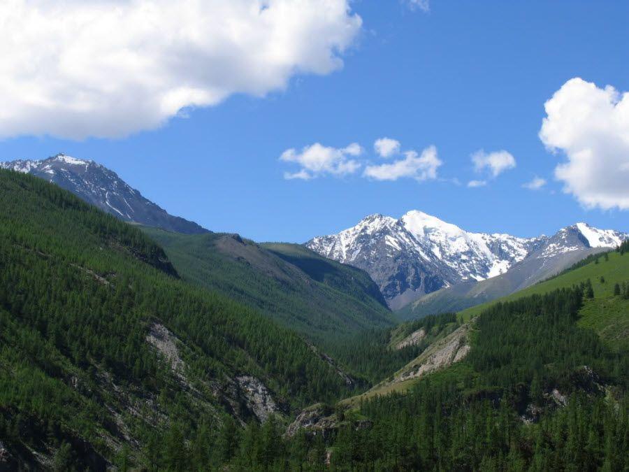 Фото природы, окружающей Ховд в Монголии