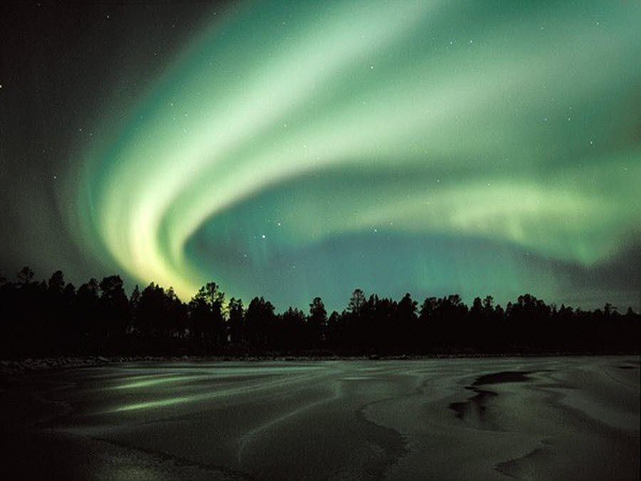 Северное сияние в Лапландии фото