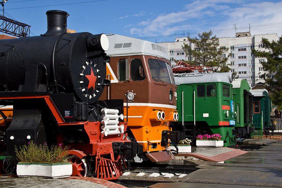 Новосибирский музей железнодорожной техники фото