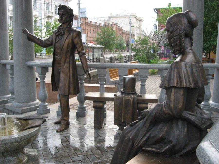 Фотография Памятник А. Пушкину и Н. Гончаровой
