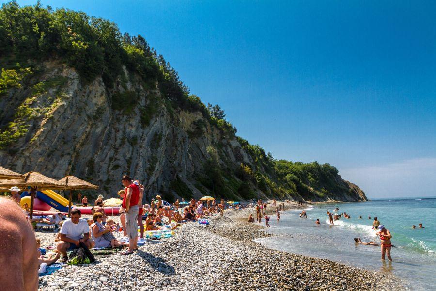 Пляж пансионатов Ольгинка и Светлана фото