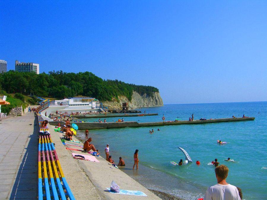 Пляж санатория Дивноморское фото