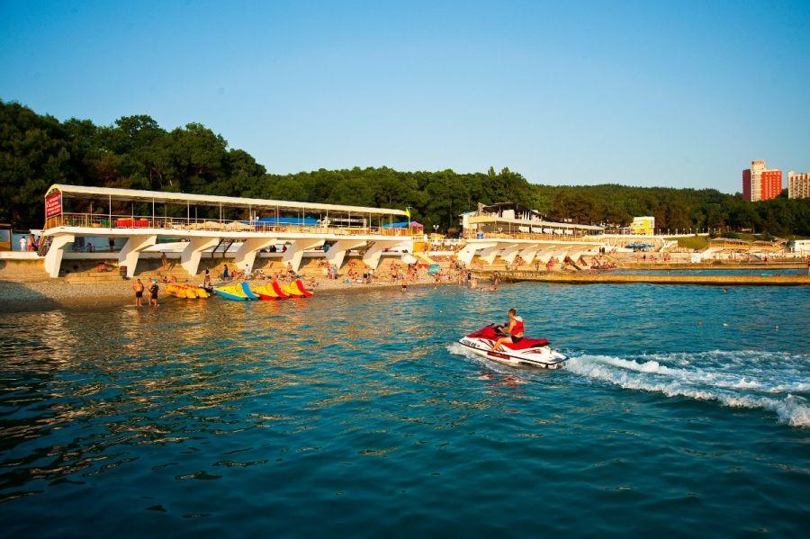 Пляжи санаториев Энергетик и Голубая Даль фото