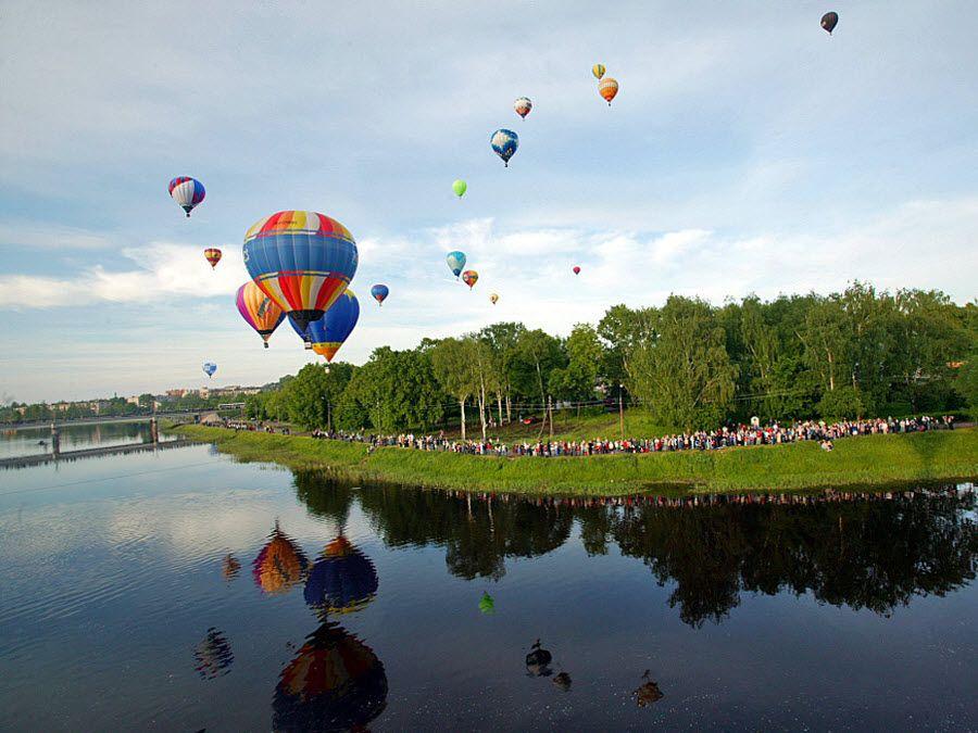 Фото Великие Луки с воздушного шара